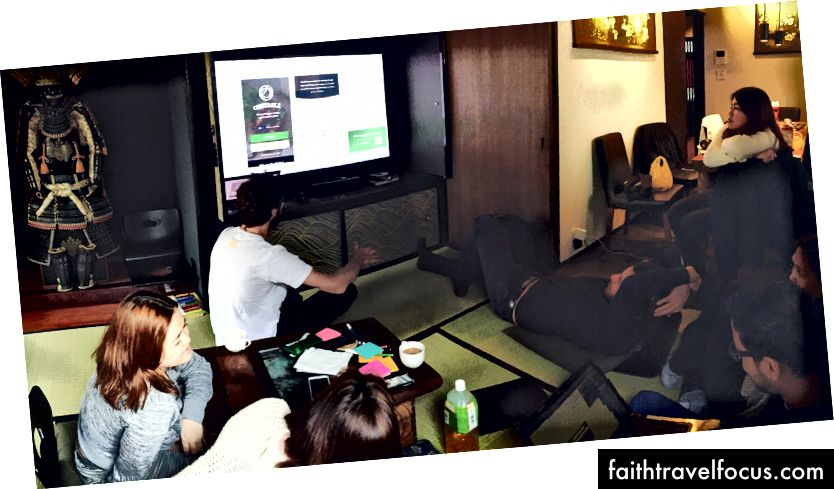 Một cuộc thảo luận nhóm trong một biệt thự truyền thống tuyệt vời ở Kyoto, Nhật Bản - 2016