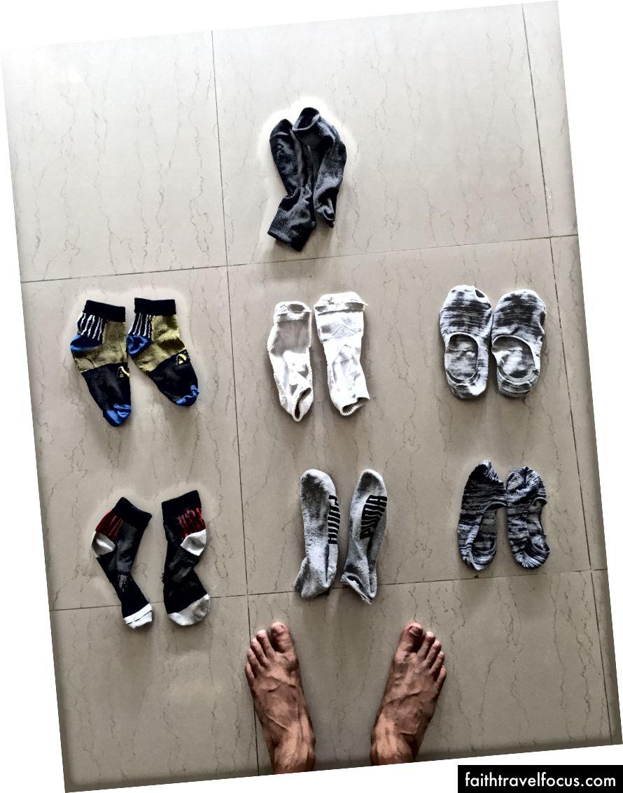 Nabaiji compacte handdoek en boxers | Kalenji hardloopjack | sokken