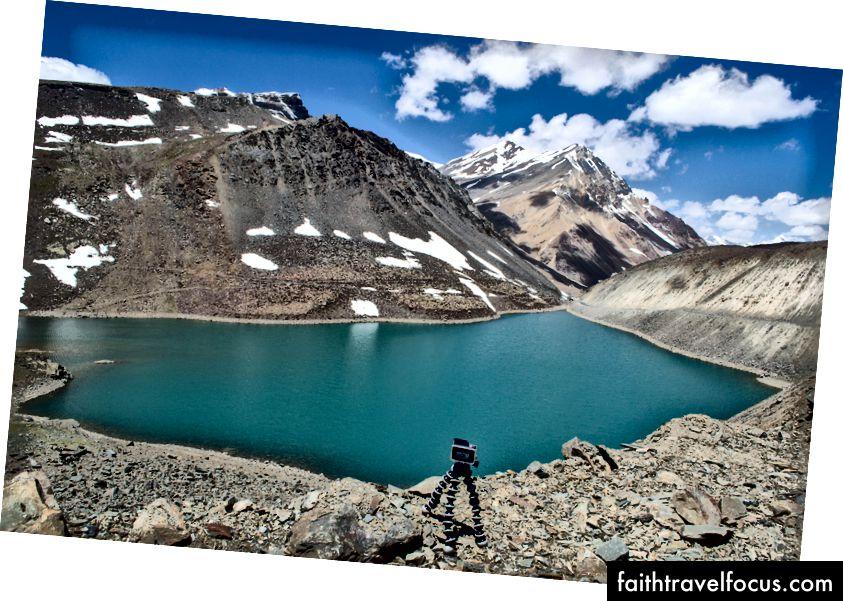 GoPro ตั้งค่าให้จับภาพบางช่วงเวลา - Suraj Tal รัฐหิมาจัลประเทศอินเดีย