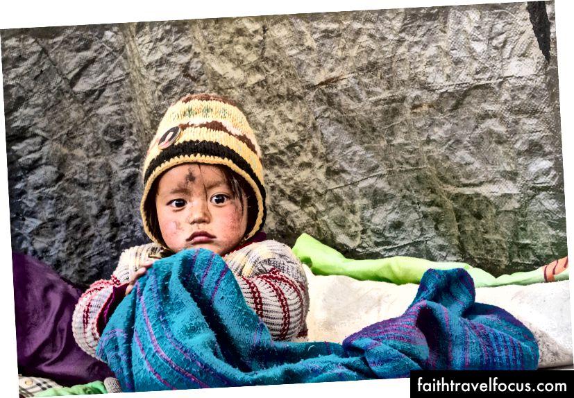 GIMA - เด็กน่ารักโชคดีมากที่ได้เกิดและเติบโตในภูเขา - Whisky Nullah, Ladakh, อินเดีย