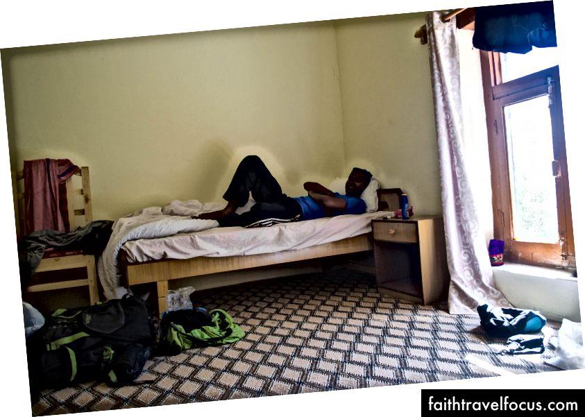 ห้องพักกว้างขวางภายในอาราม Hemis