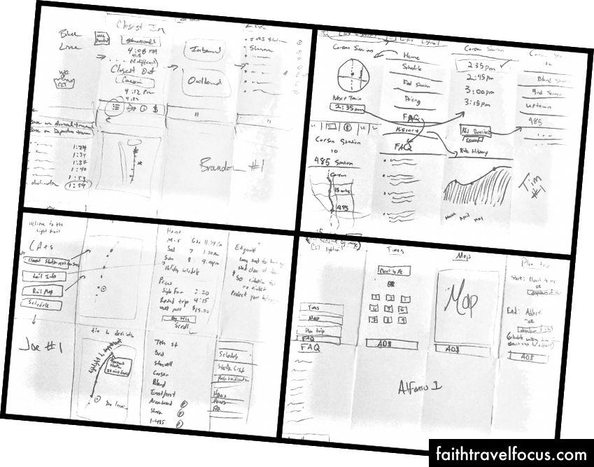 Phác thảo ứng dụng ban đầu bằng phương pháp gấp 3 tờ giấy