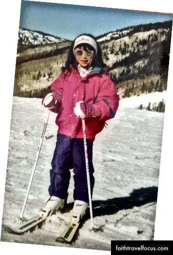 Trượt tuyết ở Steamboat, mùa đông năm 1993.