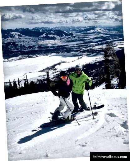 Trượt tuyết ở Jackson Hole.