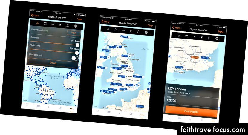 KAYAK Khám phá bản đồ tương tác + lỗi UI