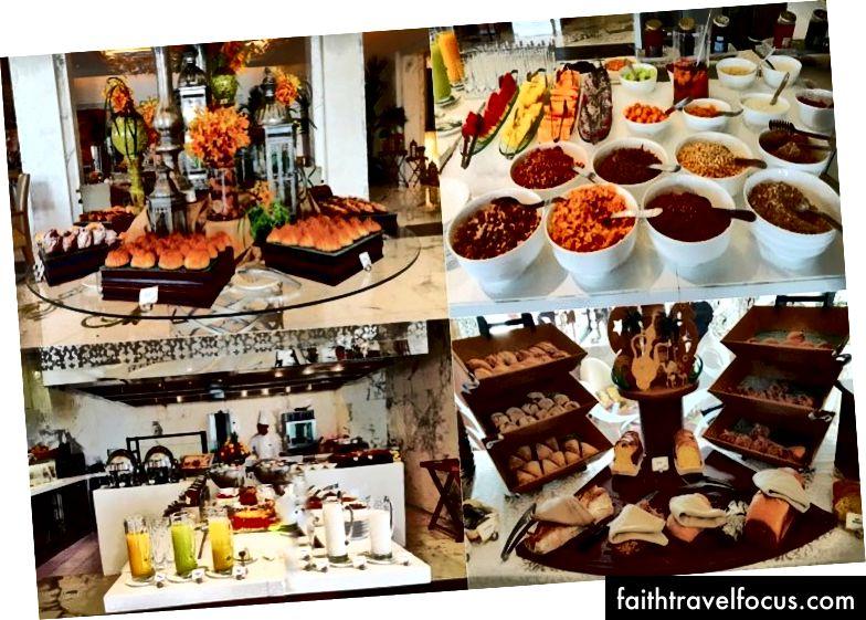 Một số lựa chọn bữa sáng cho khách, bao gồm bánh mì được thiết kế trang nhã | Ảnh tín dụng: Mike Hull, VictoriaGlobal.co