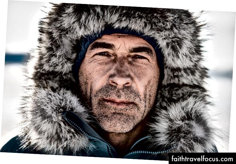 Mike Horn, ở Nam Cực.