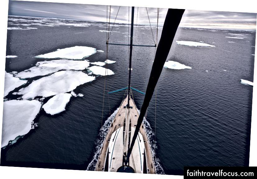 Pangea, trên đường đến Nam Cực từ Cape Town, Nam Phi.