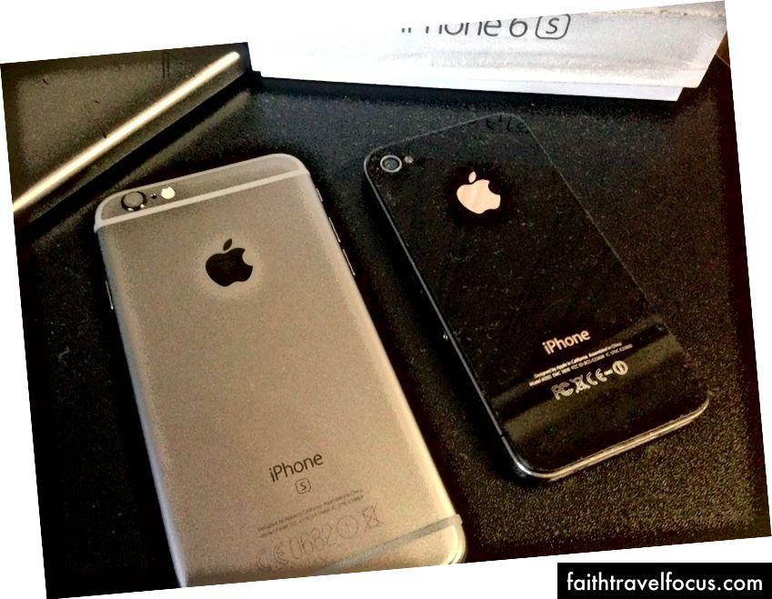 Mới của tôi lúc đó, iPhone 6 thay vì 4