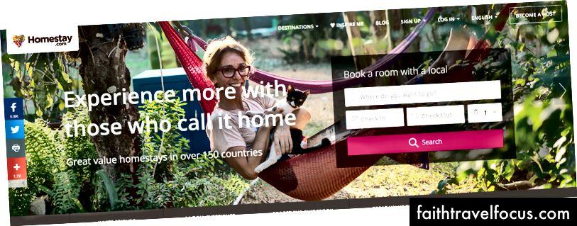 Thay thế Airbnb: Homestay.com