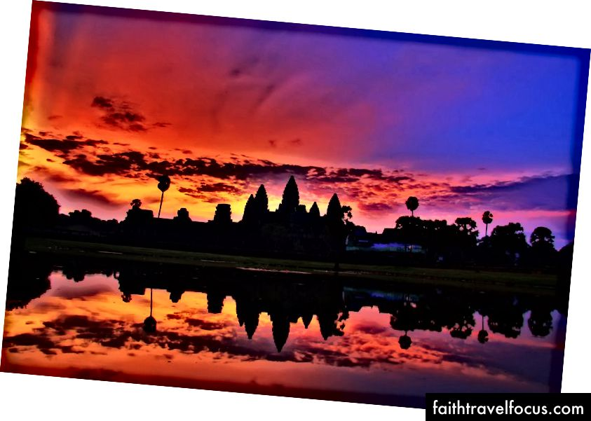 Zonsopgang in Ankor Wat. Credit: Popular Boutique Hotel