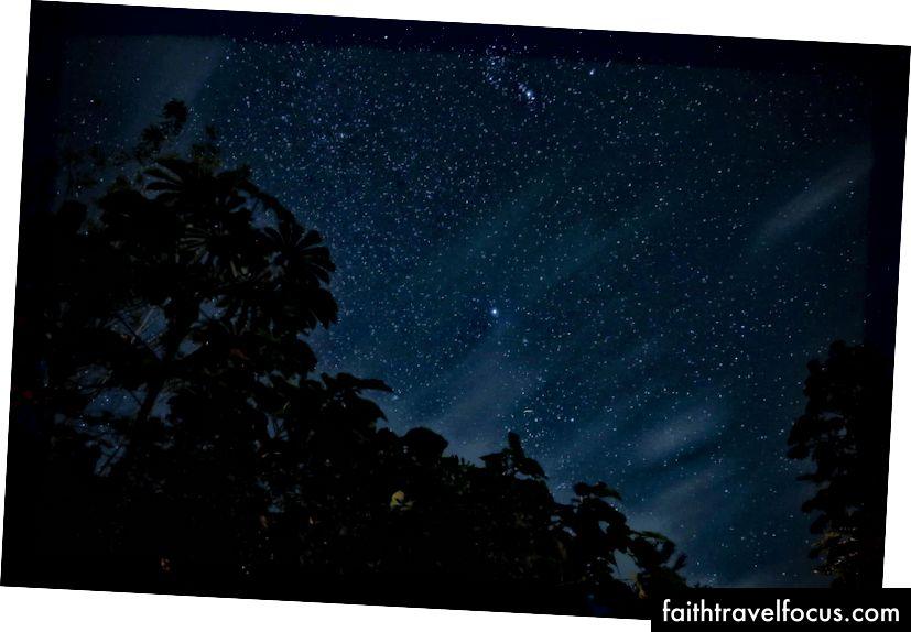 Lang eksponering av nattehimmelen i Costa Rica (bilde av Wedflix)