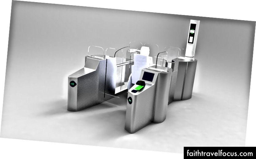 Cổng thông minh Facilty tại sân bay quốc tế Dubai.