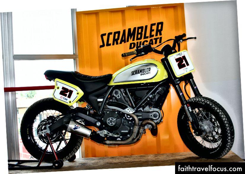 Chiếc Ducati Scrambler. Ảnh: Zaron Burnett III
