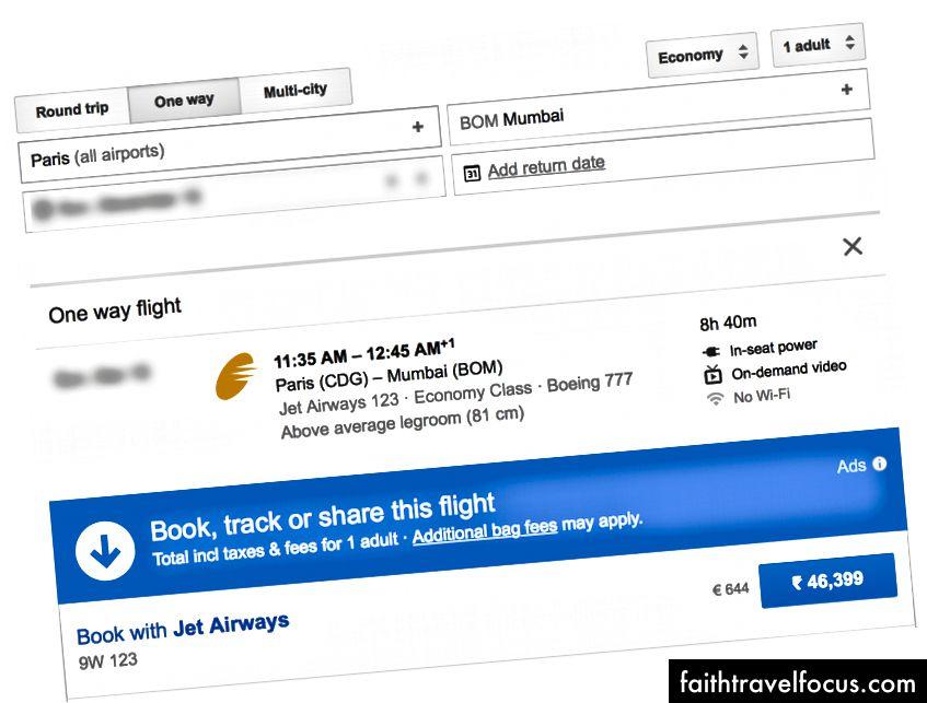So sánh các chuyến bay từ cả 3 địa điểm đến Mumbai trong cùng một ngày. Amsterdam tỏ ra đắt đỏ nhất. Không có trí tuệ để bay trở lại từ đây.