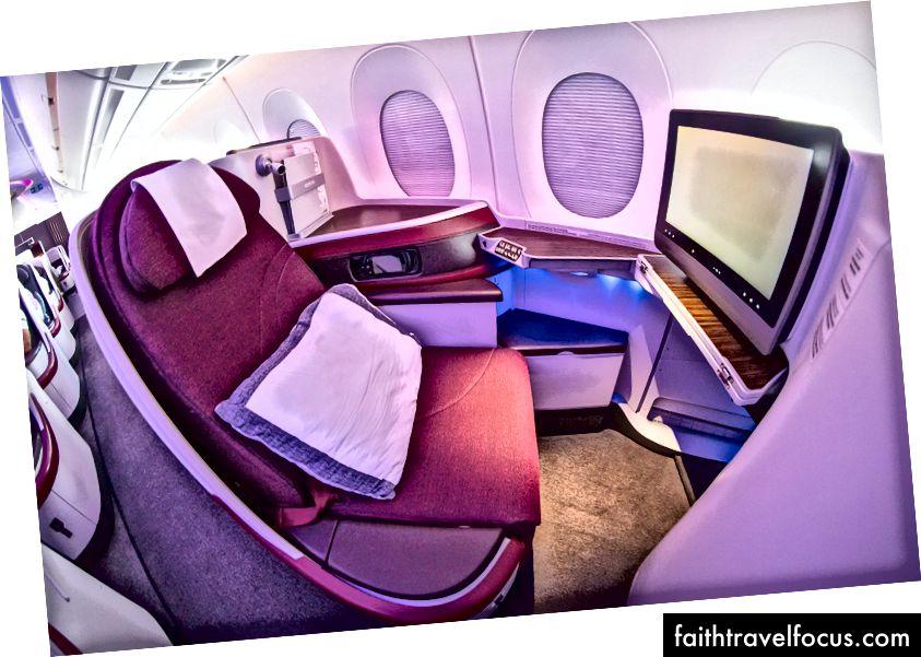 Tổng quan về hạng thương gia A350 của hãng hàng không Qatar