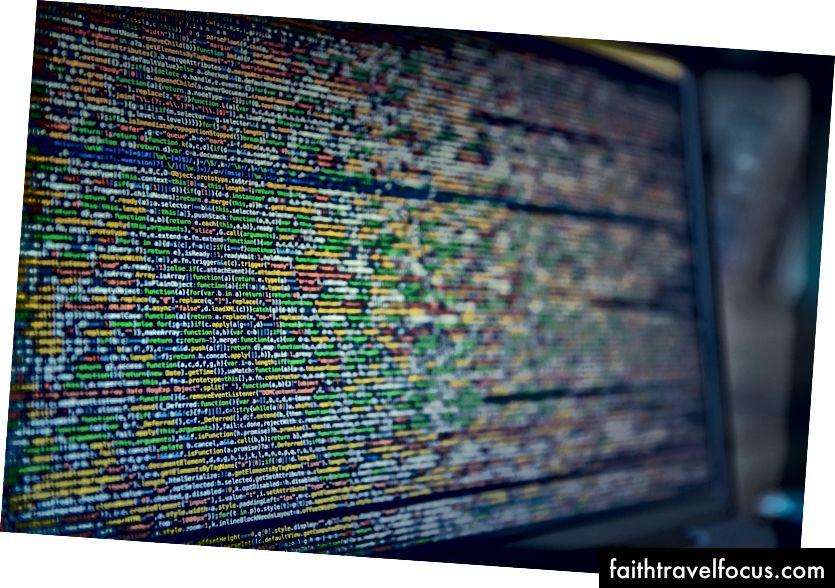 Hình ảnh của một màn hình với ngôn ngữ mã hóa trên đó