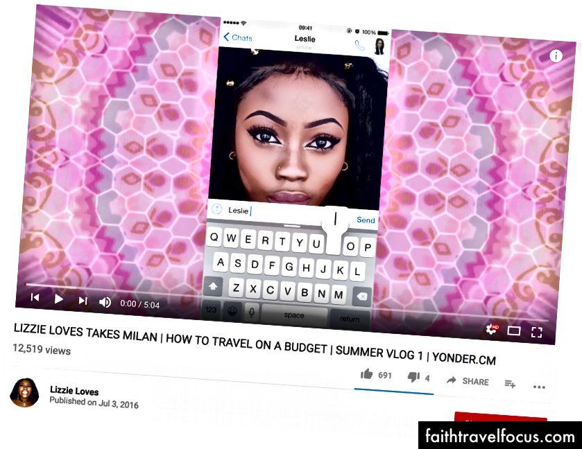 Tín dụng: Lizzie yêu YouTube vì hình ảnh