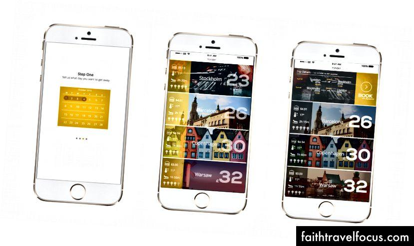 Ảnh chụp màn hình ứng dụng Yonder sớm - UI / UX của Fifi Kara