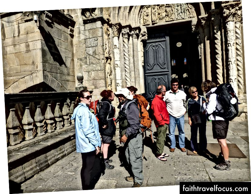 Một số người bạn tôi đã gặp trên Camino, tại nhà thờ lớn ở Santiago de Compostela.