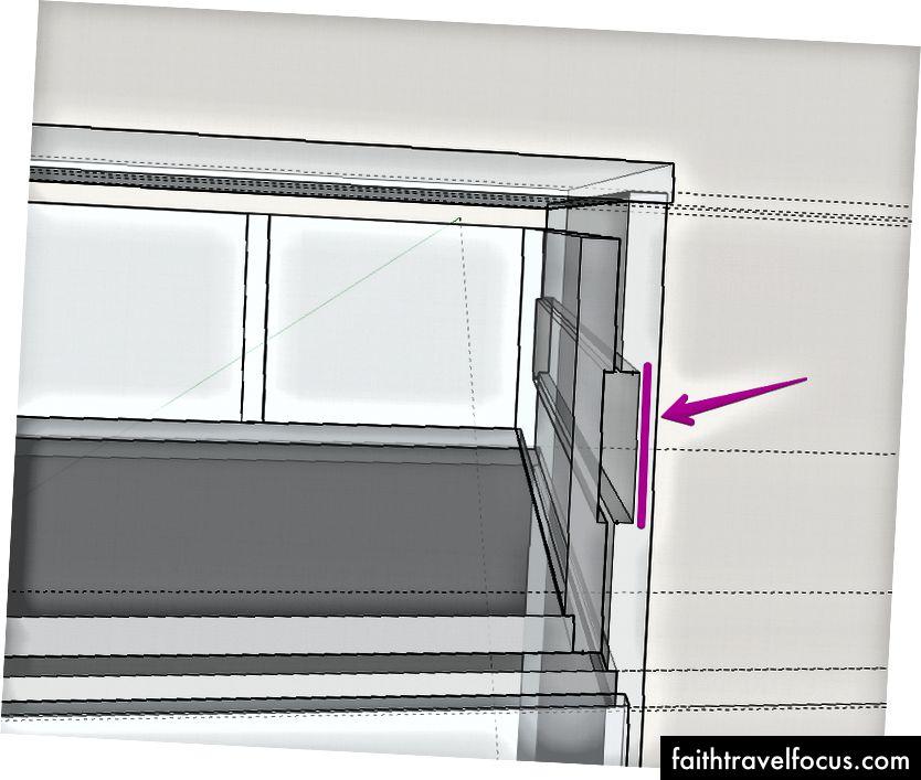 Bởi vì không gian quá chật, các ngăn kéo cần được lắp vào một dado trong cấu trúc để mọi thứ sẽ phù hợp. Tôi đã lo lắng về sức mạnh, nhưng sau khi xây dựng được chứng minh là không có vấn đề. Baltic Birch ply là mạnh mẽ!