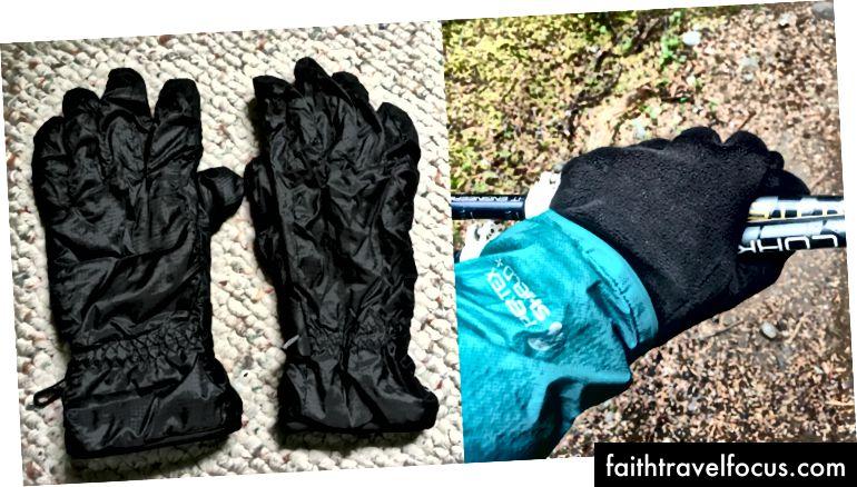 Còn lại: Những gì tôi đã gửi về nhà một cách tiếc nuối. Phải: Những gì tôi nhìn khi tôi tuyệt vọng muốn đôi găng tay cũ của tôi trở lại.