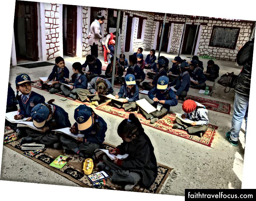 Các hoạt động tại Trường nữ Govt, Diskit, Thung lũng Nubra