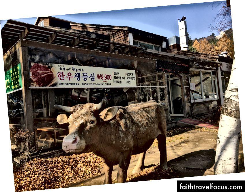 BBQ Hàn Quốc Hạn chế ở trung tâm của YongPyong. # 1 được xếp hạng trên Trip Advisor.