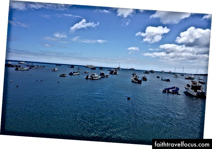 Вид з порту Пуерто Бакерізо Морено. Одне з цих кораблів - наше