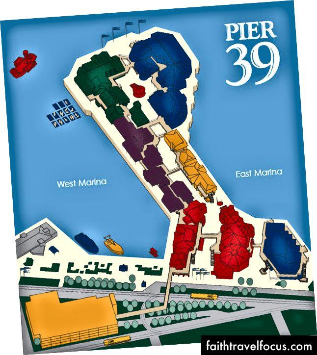 Bản đồ bến tàu 39