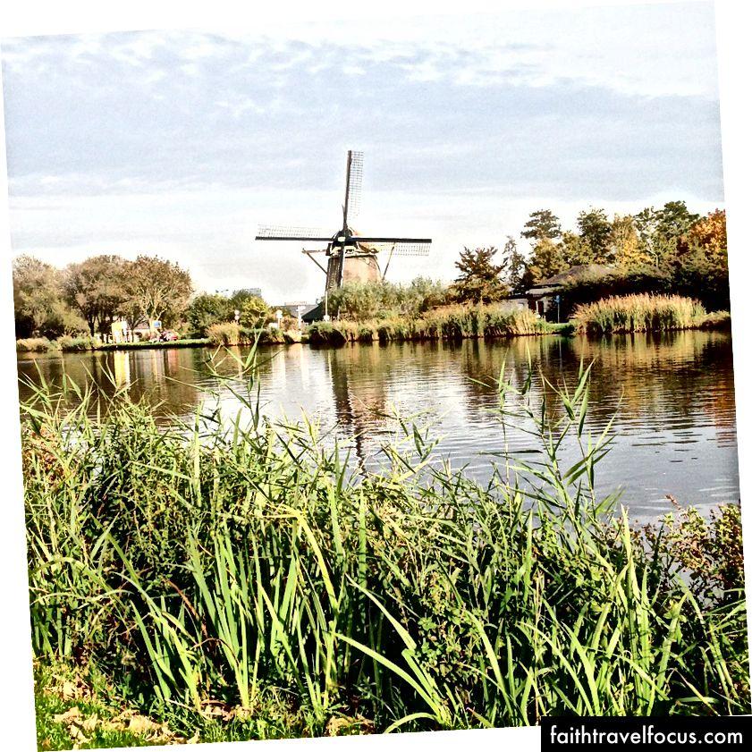 Ціную вітряк, коли їздив на велосипеді в Амстердам з одним з моїх найкращих друзів.