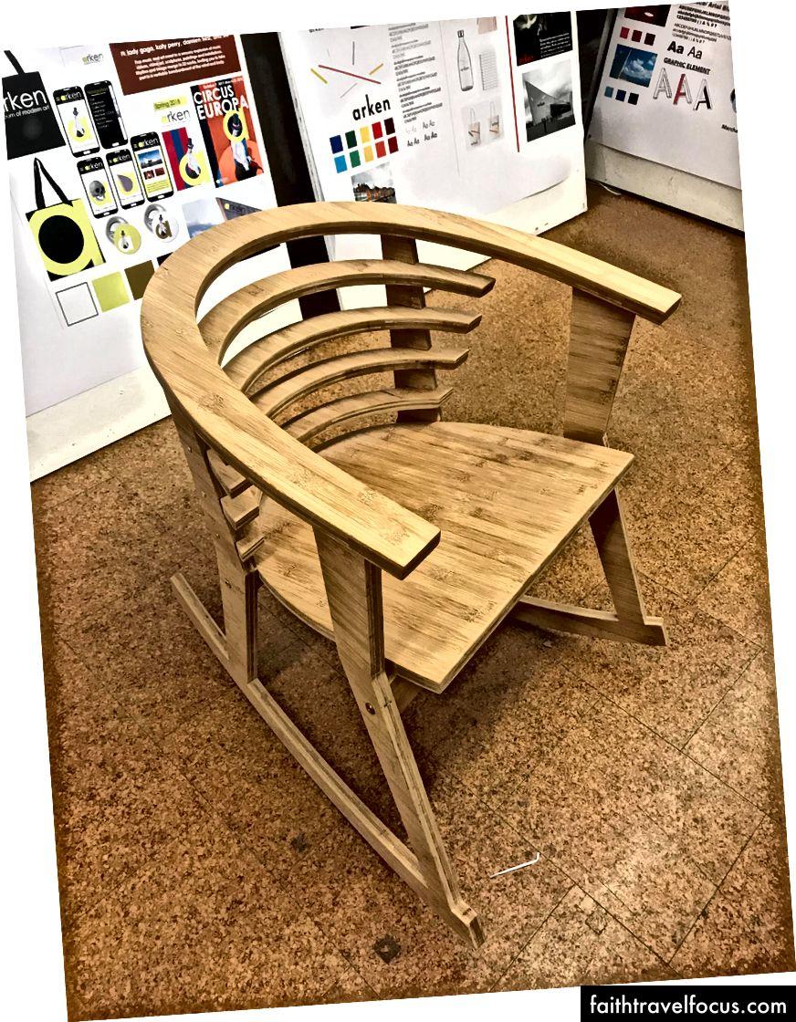 Rika đã xây dựng chiếc ghế lấy cảm hứng thiết kế đầy đủ chức năng của Đan Mạch này! Với hai bàn tay của chính mình! Và một số công cụ, tôi chắc chắn.