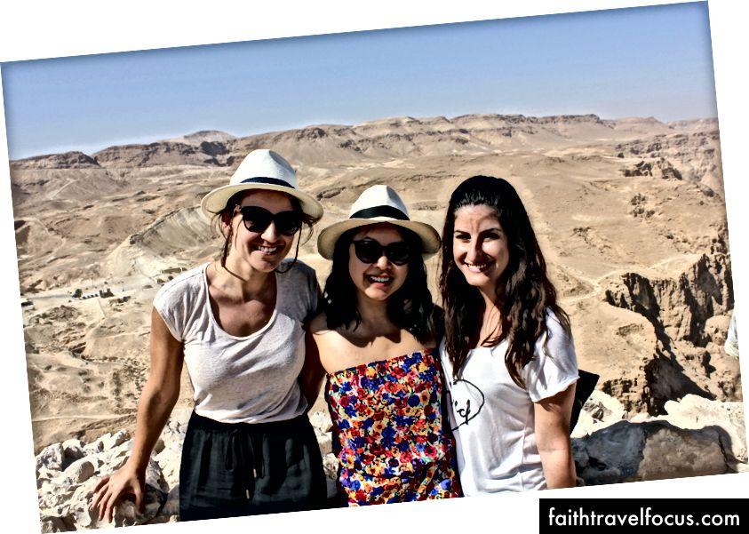 Почуття вершини світу в Масаді в Іудейській пустелі.
