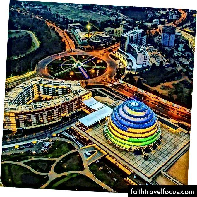 Аерофотозйомка мого рідного міста, Кігалі, Руанда