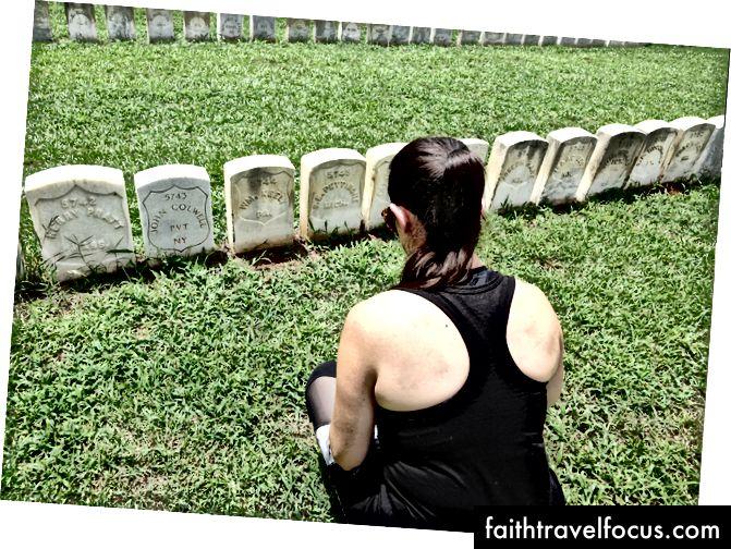 Могильний камінь мого предка на Національному кладовищі Андерсонвілл, штат Джорджія