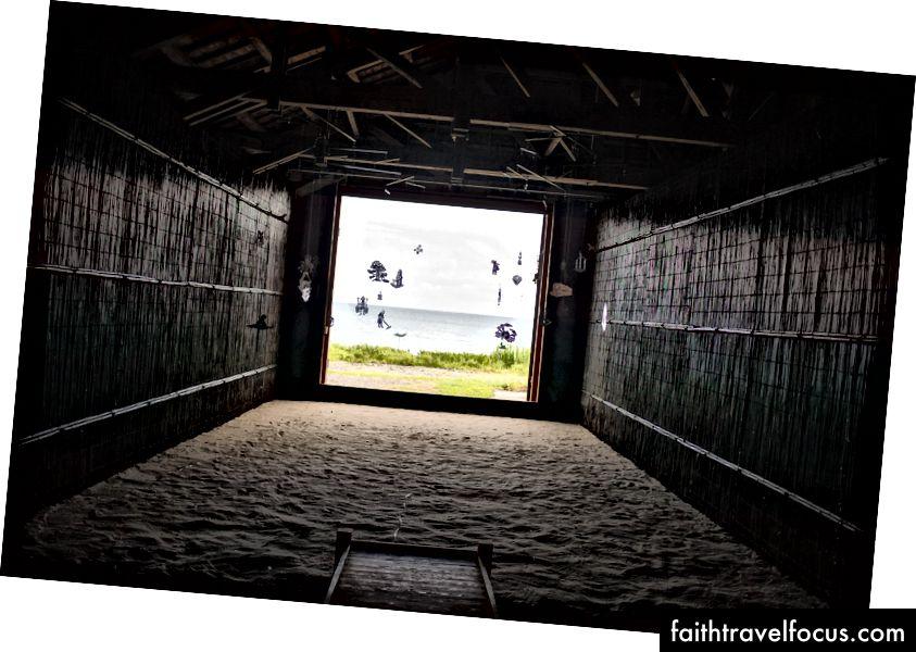 Nhà máy Silhouette Silhouette của Bunpei Kado tại lễ hội Suzu.