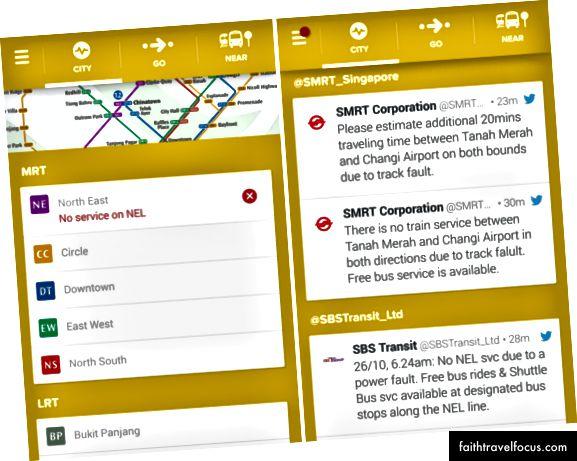 Citymapper має систему оповіщення про порушення роботи громадського транспорту