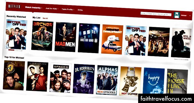 Близько 75 - 80% всього, що спостерігається на Netflix, походить від його індивідуально підібраних рекомендацій.