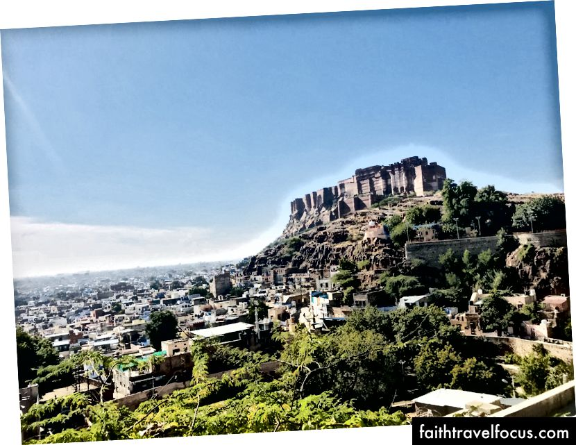 Форт Менгер з видом на Джайпур