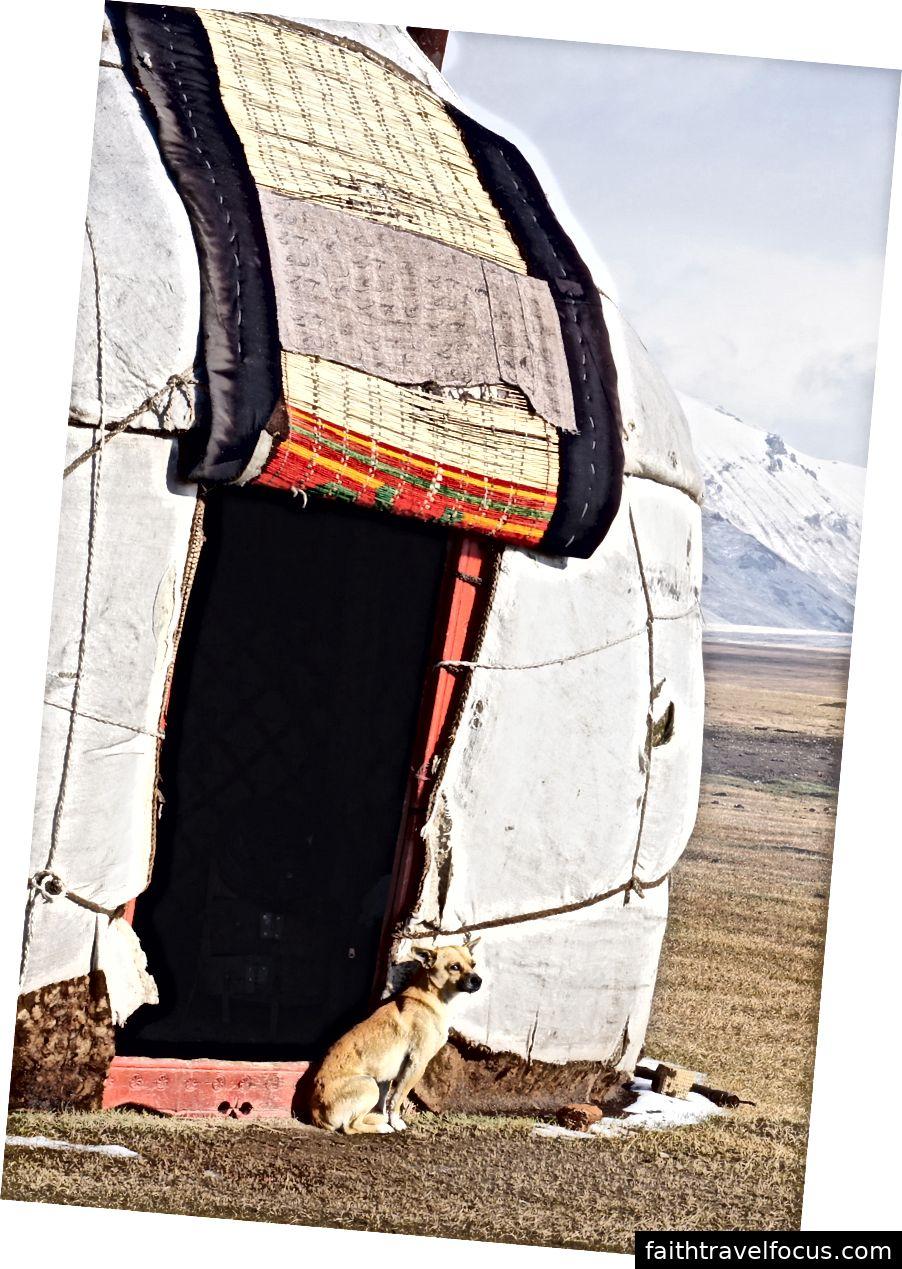 Дверний проріз традиційного киргизького «бозу».