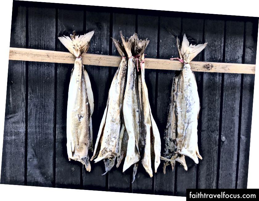 Риба з вітром - ще одна популярна фарерська страва. Фото мною.