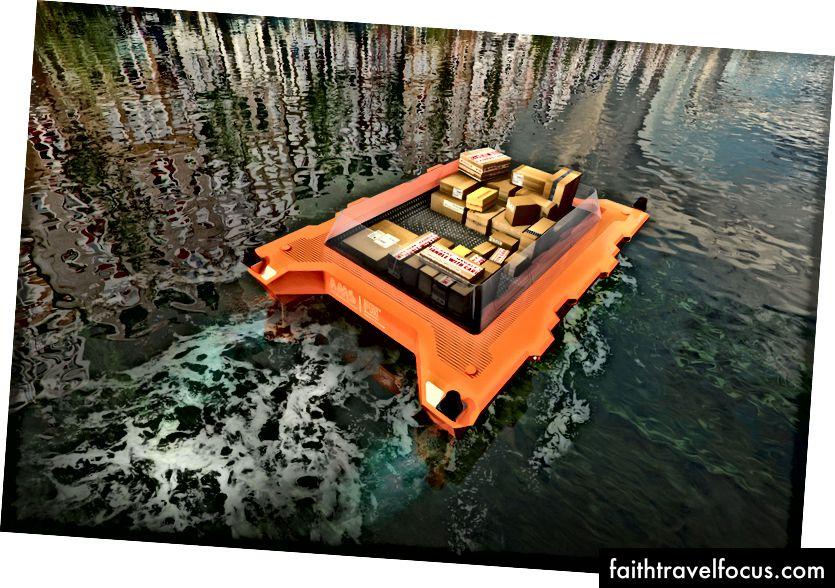 Teslimat için otomatik tekneler kullanılabilir | © MIT Duyarlı Lab