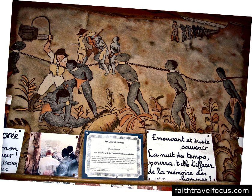 Müzeyi yeniden inşa etmek: Bu duvar resmi artık Köle Evi'nin duvarlarını süslememektedir. (Kaynak.)