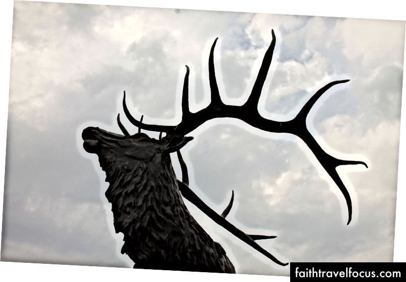 Lander, Wyoming'deki bir geyik heykeli. (Fotoğraf kredisi: Oriana Schwindt)