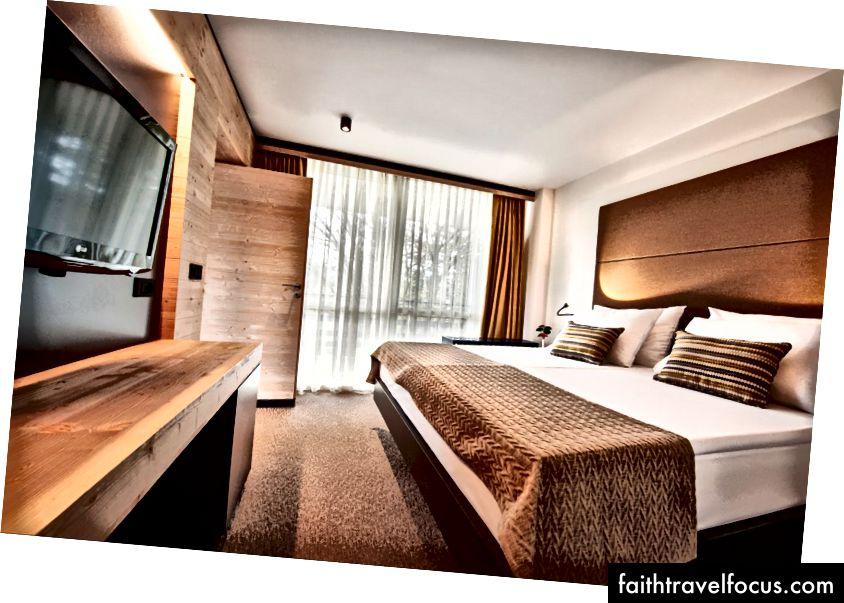 Phòng ngủ tại khách sạn Golf, Bled