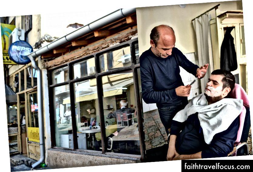Mọi người rất tốt bụng, nó vượt qua rào cản ngôn ngữ. Ví dụ, anh chàng này ở Old Bazaar đã cho tôi cắt tóc và tỉa râu tốt nhất trong cuộc đời tôi, và chúng tôi đã nói những từ KHÔNG với nhau. Chắc chắn, đi và tìm kiếm anh ta tại cửa hàng của anh ta (trái) trên một trong những đường phố chính của chợ