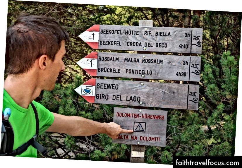 Det er symbolet du vil følge: Alta Via 1