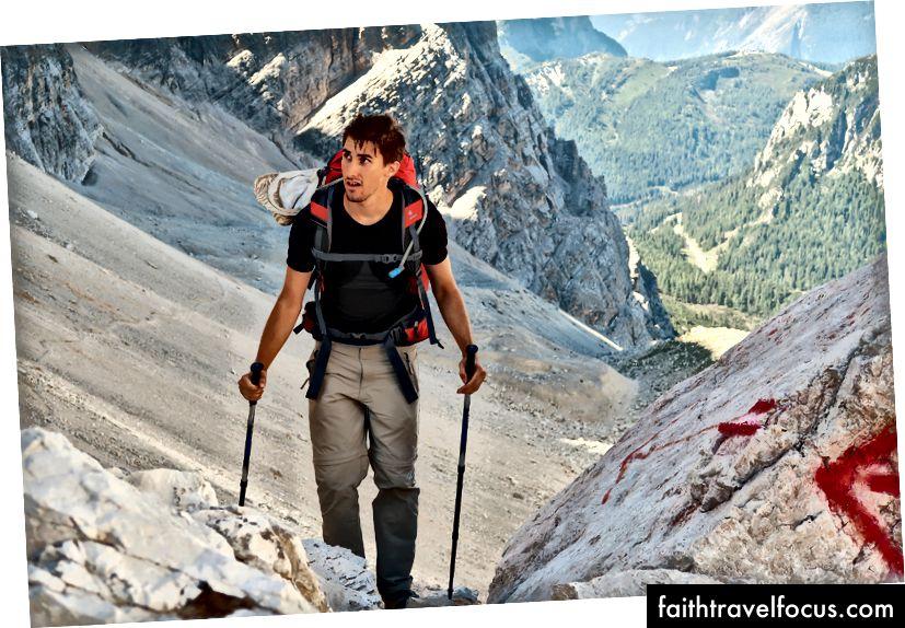Riccardo và khuôn mặt núi của anh ấy