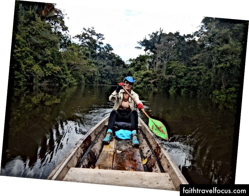 Автор на річці Тайхуайо, перуанська Амазонка