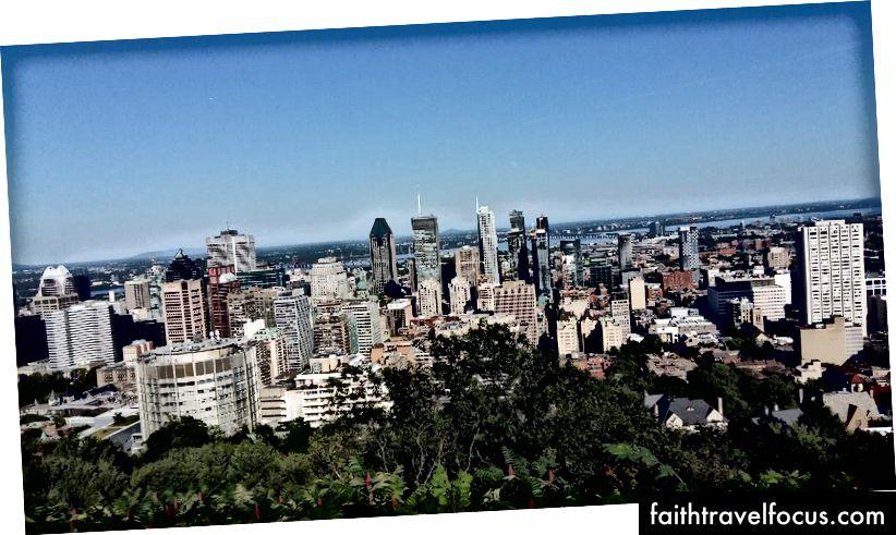 Вид на місто з Мон-Рояль (літо 2017)